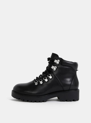 Černé dámské kožené kotníkové zimní boty Vagabond Kenova