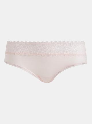 Rúžové nohavičky s krajkou Calvin Klein Underwear