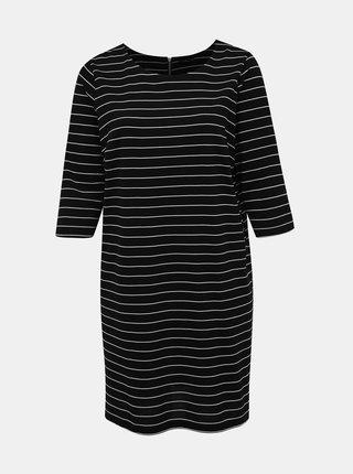 Čierne pruhované šaty Zizzi Micky