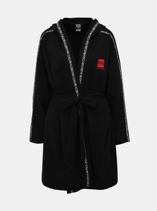 Černý dámský župan Calvin Klein Underwear