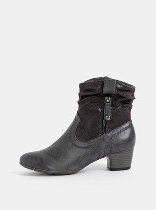 Tmavošedé dámske členkové topánky s.Oliver