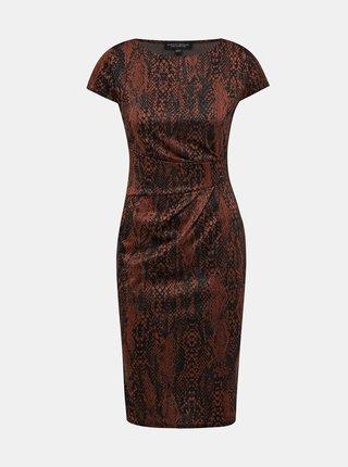 Hnedé šaty s hadím vzorom Dorothy Perkins