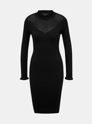 Černé svetrové šaty Dorothy Perkins