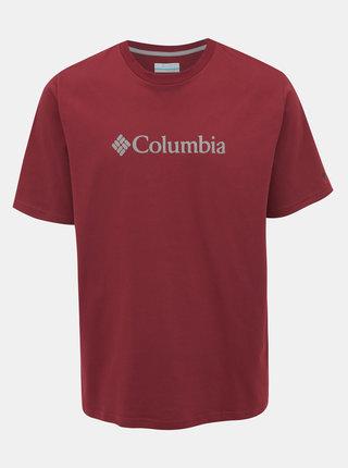 Vínové pánské tričko s krátkým rukávem Columbia