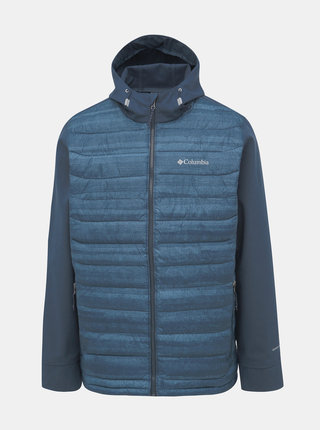 Modrá pánská prošívaná zimní bunda Columbia Powder Lite Hybrid