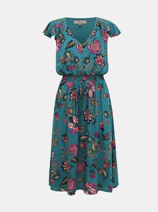 Tyrkysové kvetované šaty Billie & Blossom