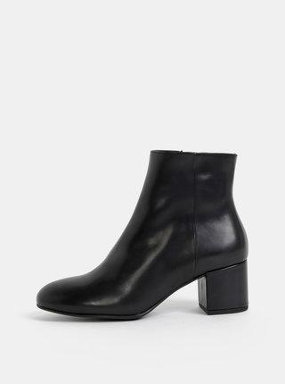 Čierne kožené kotníkové topánky Högl Polishcalf