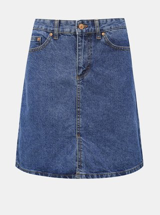 Modrá rifľová sukňa s rozparkom Jacqueline de Yong Piper