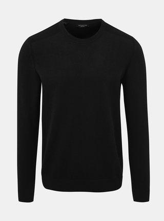 Čierny basic sveter Selected Homme Daniel