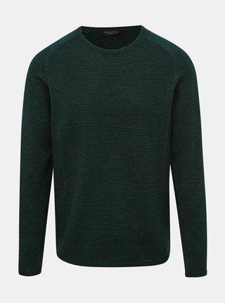 Tmavozelený sveter Selected Homme Bakes