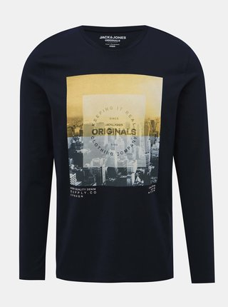 Tmavě modré tričko s potiskem Jack & Jones Town