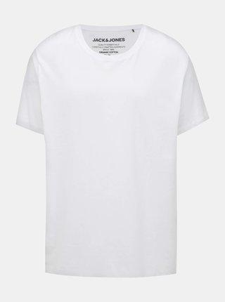 Bílé basic tričko Jack & Jones Organic