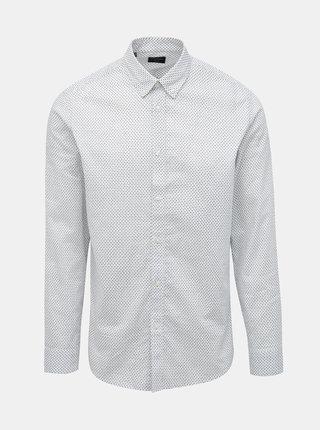 Biela vzorovaná slim fit košeľa Selected Homme Kino