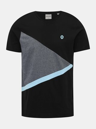 Čierne tričko Jack & Jones Cross