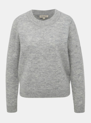 Světle šedý basic vlněný svetr Selected Femme Sia