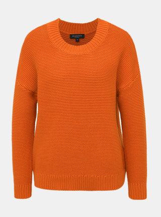 Oranžový svetr Selected Femme Walla