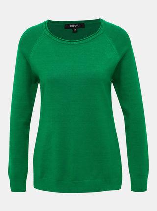 Zelený dámský basic svetr ZOOT