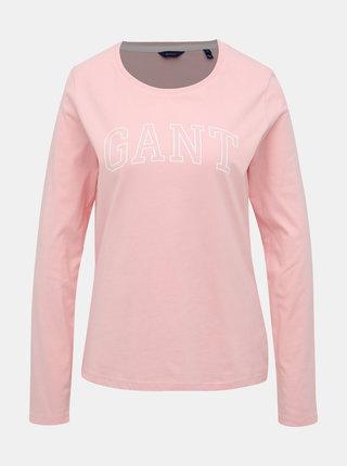 Růžové dámské tričko GANT