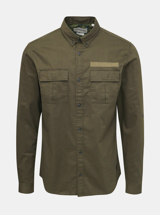 Khaki slim fit košile Jack & Jones Porter