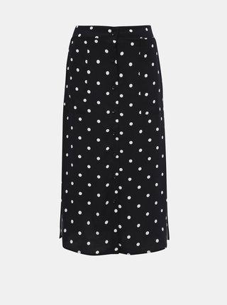 Tmavomodrá bodkovaná sukňa Haily´s Toffy