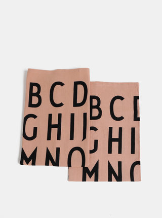 Sada dvoch rúžových utierok Design Letters