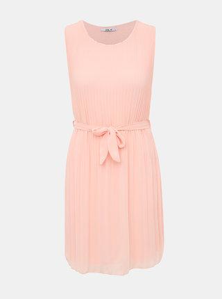 Rúžové plisované šaty Haily´s Glory