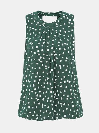 Zelená puntíkovaná halenka Haily´s Dotty
