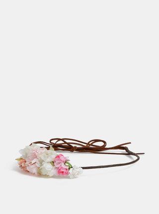 Rúžová kvetovaná čelenka Haily´s Gianna