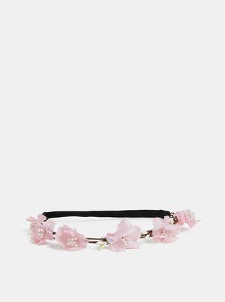 Rúžová kvetovaná čelenka Haily´s Clara