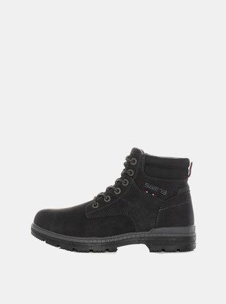 Čierne pánske kotníkové topánky SAM 73