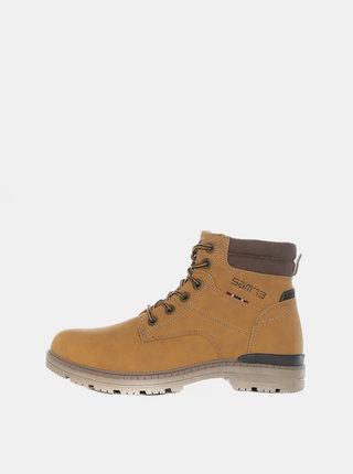 Svetlohnedé pánske kotníkové topánky SAM 73