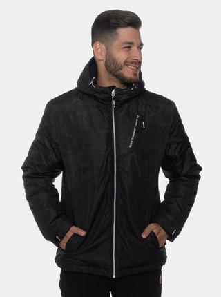 Černá pánská vzorovaná voděodolná zimní bunda SAM 73