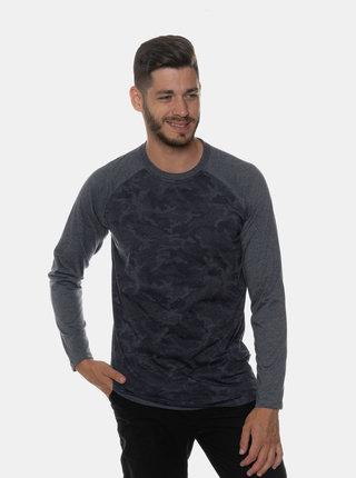 Tmavomodré pánske vzorované tričko SAM 73