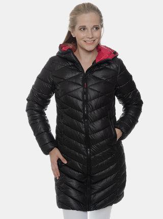 Černý dámský prošívaný zimní kabát SAM 73