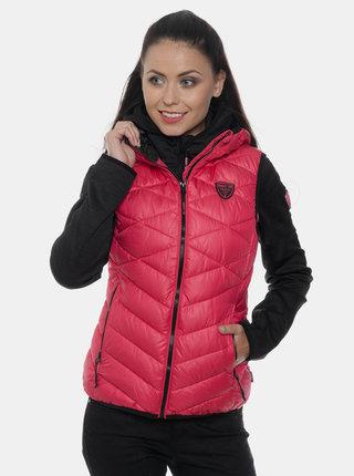 Tmavě růžová dámská prošívaná vesta SAM 73