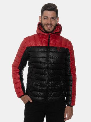 Čierna pánska prešívaná zimná bunda SAM 73