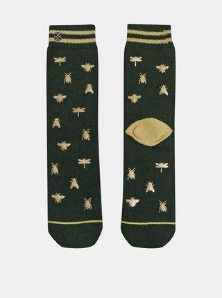 Zelené dámske vzorované ponožky XPOOOS