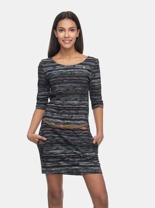 Černé vzorované šaty Ragwear Tanya Print
