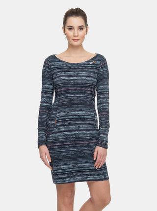 Tmavomodré vzorované šaty Ragwear River Print
