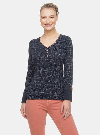 Tmavě modré dámské vzorované tričko Ragwear Pinch