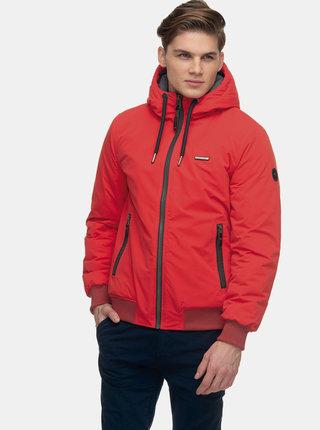 Červená pánská zimní nepromokavá bunda Ragwear Percy