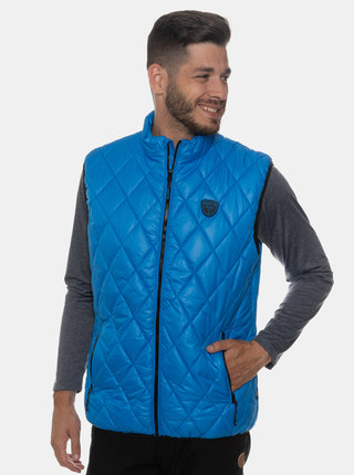 Modrá pánska prešívaná vesta SAM 73