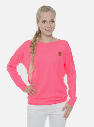 Neonovo rúžové dámske tričko SAM 73