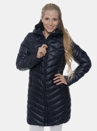Tmavě modrý dámský prošívaný zimní kabát SAM 73