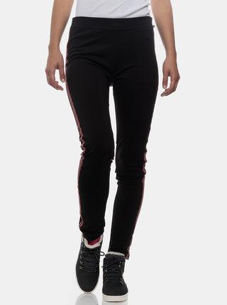 Černé dámské legíny s pruhem na nohavicích SAM 73