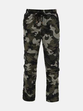 Khaki pánské vzorované kalhoty SAM 73