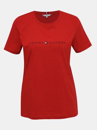 Červené dámske tričko s potlačou Tommy Hilfiger
