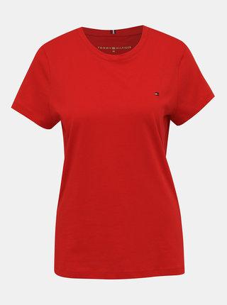 Červené dámské basic tričko Tommy Hilfiger New Crew