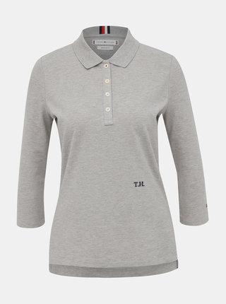 Šedé dámské polo tričko Tommy Hilfiger Essential