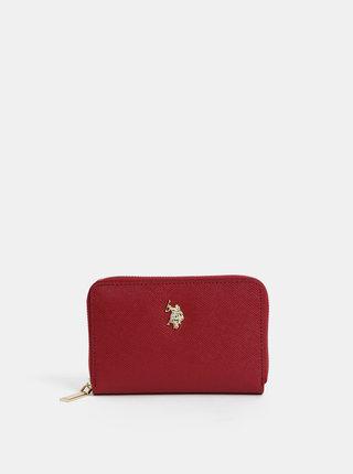 Červená peněženka U.S. Polo Assn.